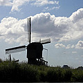 Windmills Silhouette by Sally Weigand