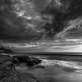 Windnsea Stormy Sky Bw by Peter Tellone