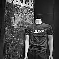 Window Display Sale In Black And White Photograph With Mannequin No.0129 by Randall Nyhof