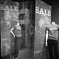Window Display Sale With Mannequins No.1292 by Randall Nyhof