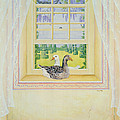 Window Geese by Ditz
