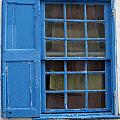 window in blue - British style window in a mediterranean blue by Pedro Cardona Llambias