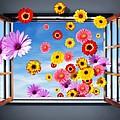 Window Of Flowers by Carlos Caetano