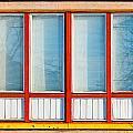 Window Of Soviet Building by Alain De Maximy