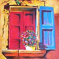 Window On The Rue In Roussillon France by Susi Franco