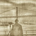 window self-portrait Embarcadero San Francisco by SC Heffner