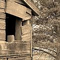 Window To Nowhere - Sepia by Cindy Angiel