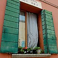 Window with a View on Campo Del Pra Murano Italy