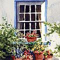 Window With Blue Trim by Sam Sidders