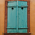 Window With Turqouise Shutters In Colmar France by Greg Matchick