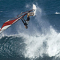 Windsurfer Hanging In by Bob Christopher