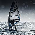Windsurfing With Water Drops On Camera by Ben Welsh
