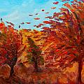 Windy Autumn Day by Lilia D