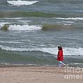Windy Beach Walk by Ann Horn