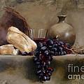Wine And Bread by Karina Plachetka