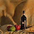 Wine Apples And Cheese by Paulette B Wright