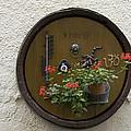 Wine Barrel Decoration by Sally Weigand