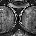 Wine Barrels Monochrome by Michele Steffey