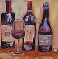 Wine Bottle Trio by Donna Tuten