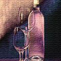 Wine Bottle With Glasses by Tom Mc Nemar