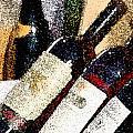 Wine Bottles by Flamingo Graphix John Ellis
