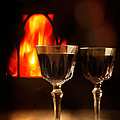 Wine By The Fire by Amanda Elwell