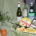 Wine Cheese And Crackers by Living Color Photography Lorraine Lynch