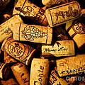 Wine Corks - Art Version by Mark Miller