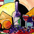 Wine Fruit And Cheese For Two by Everett Spruill