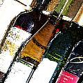 Wine In A Row by Flamingo Graphix John Ellis