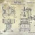 Wine Press Patent 1903 by Jon Neidert
