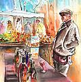 Wine Vendor In A Provence Market by Miki De Goodaboom