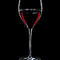 Wineglass Filled With Red Wine Silhouette by Alex Sukonkin