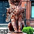 Winged Lion Fountain by Tara Potts