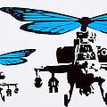 Wingin It - Blue by Sue Rowe