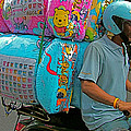 Winnie The Pooh On A Scooter In Bangkok-thailand by Ruth Hager