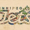 Winnipeg Jets Retro Poster by Florian Rodarte