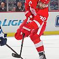 Winnipeg Jets V Detroit Red Wings by Dave Reginek