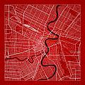 Winnipeg Street Map - Winnipeg Canada Road Map Art On Color by Jurq Studio