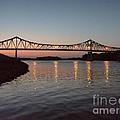 Winona Bridge At Sunset by Kari Yearous