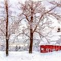 Winter Arrives Watercolor by Edward Fielding