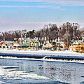 Winter At Boathouse Row In Philadelphia by Bill Cannon