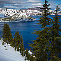 Winter At Crater Lake by Inge Johnsson