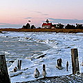 Winter At East Point Lighthouse  by Nancy Patterson