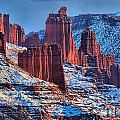 Winter At Fisher Towers by Adam Jewell