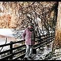 Winter At Frozen Lochside by Joan-Violet Stretch