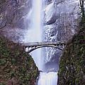 Winter At Multnomah Falls by Steven Baier