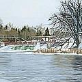 Winter At Phelps Mill by Lynn Hansen