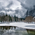 Winter At Swinging Bridge by Cat Connor
