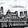 Winter At The Fairmount Waterworks In Black And White by Bill Cannon